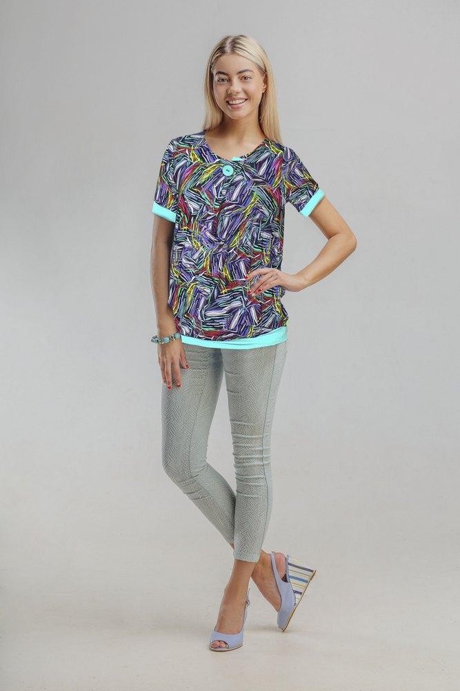 Блузка женская АкварельТуники, рубашки и блузы<br><br><br>Размер: 58