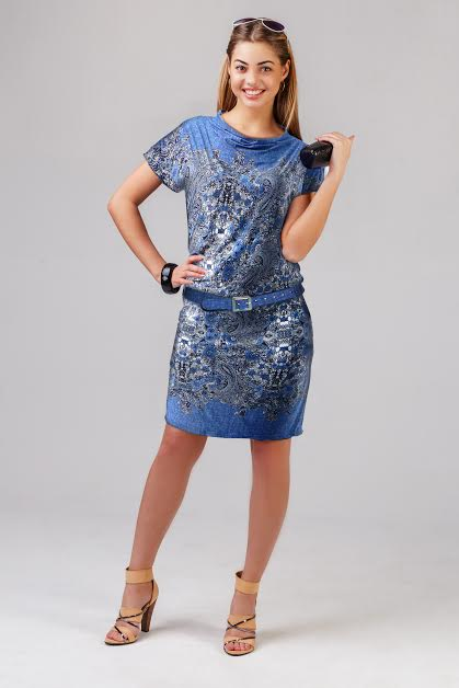 Платье женское Бархат с ремнемДомашняя одежда<br><br><br>Размер: 44