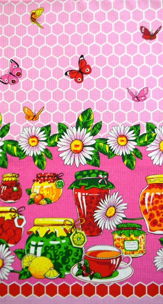 Набор вафельных полотенец Варенье (5 шт.)Полотенца<br><br><br>Размер: 40х75
