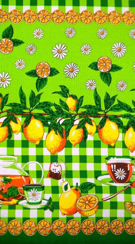 Набор вафельных полотенец Лимоны (5 шт.)Полотенца<br><br><br>Размер: 40х75