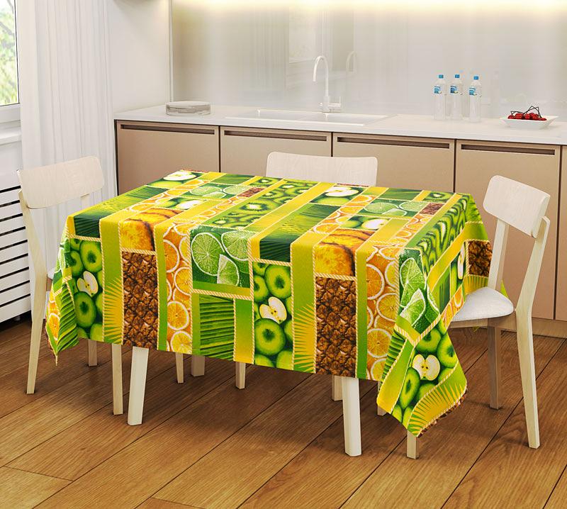 Набор Скатерть и ваф. полотенца Тропический островСкатерти и салфетки<br><br><br>Размер: 150х145