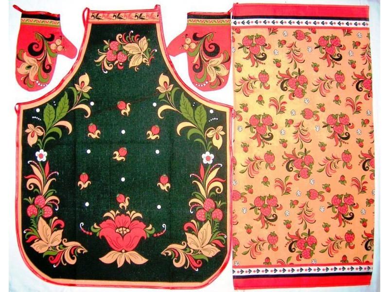 Набор кухонный Русский декор 4 предметаКухонные наборы<br><br>