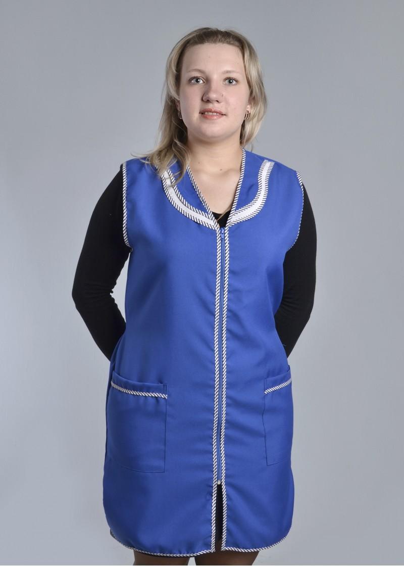 Халат-сарфан женский Клининг-1Для клининга и горничных<br><br><br>Размер: 44