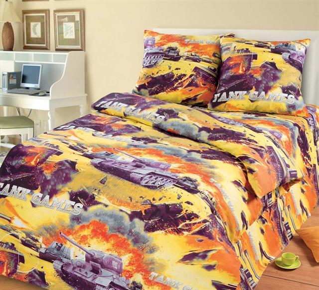 Комплект постельного белья Баталия из бязиДетское постельное белье<br><br><br>Размер: 1,5сп. (2 нав.70х70)