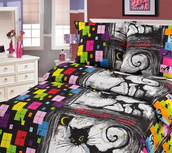 Комплект постельного белья Джокер из бязиДетское постельное белье<br><br><br>Размер: 1,5сп. (2 нав.70х70)