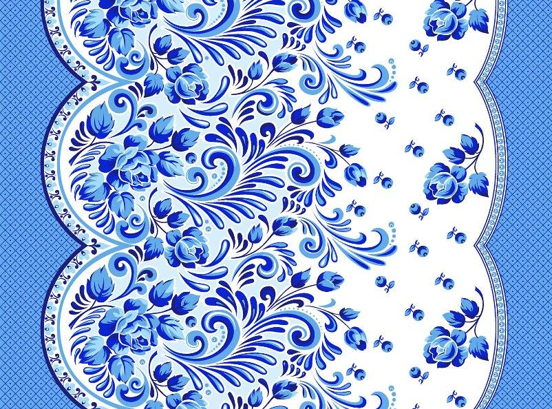 Вафельное полотенце ГжельПолотенца<br><br><br>Размер: 50х70