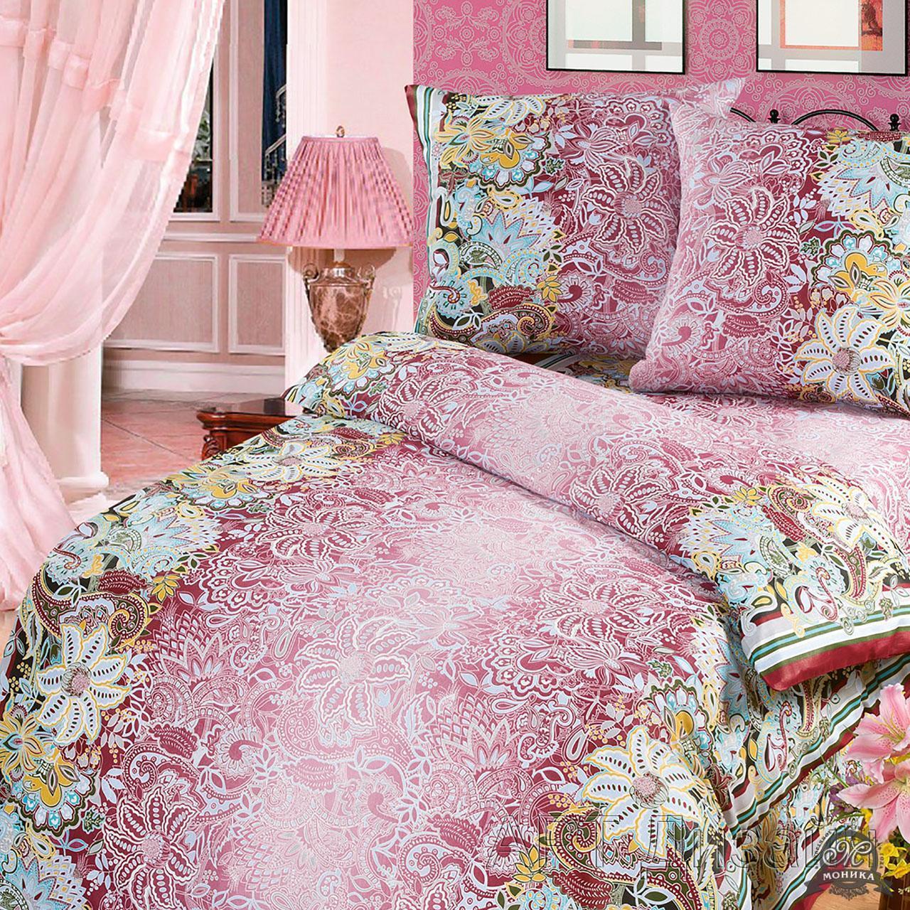 Комплект постельного белья Кружева-бордо из бязиБязь<br><br><br>Размер: 1,5сп. (2 нав.70х70)