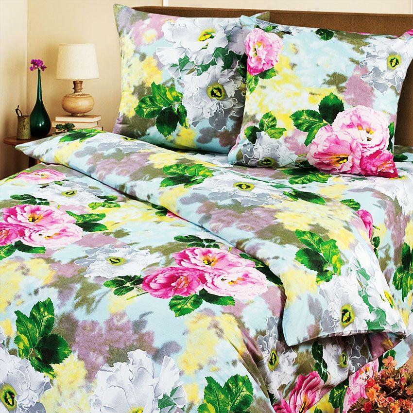 Комплект постельного белья Настроение из бязиБязь<br><br><br>Размер: 1,5сп. (2 нав.70х70)
