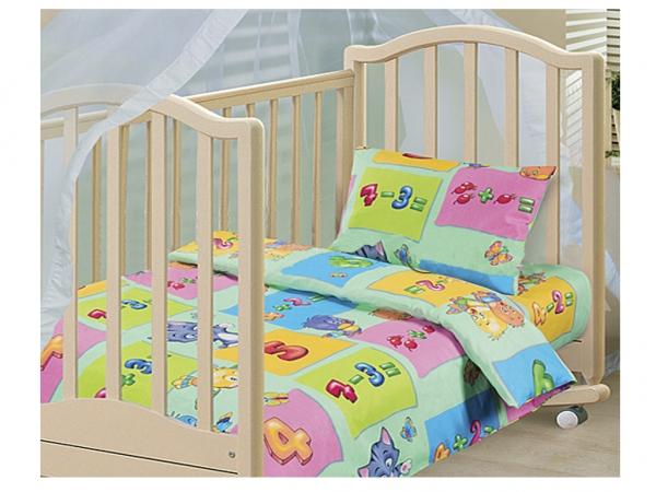 Комплект постельного белья Забавный счет из бязиДетское постельное белье<br><br><br>Размер: Детский 112х147 (Наволочка 1шт. - 40х60)