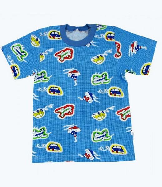 Футболка детская для мальчиков ТранспортМайки и футболки<br><br><br>Размер: 24 (рост 80 см)