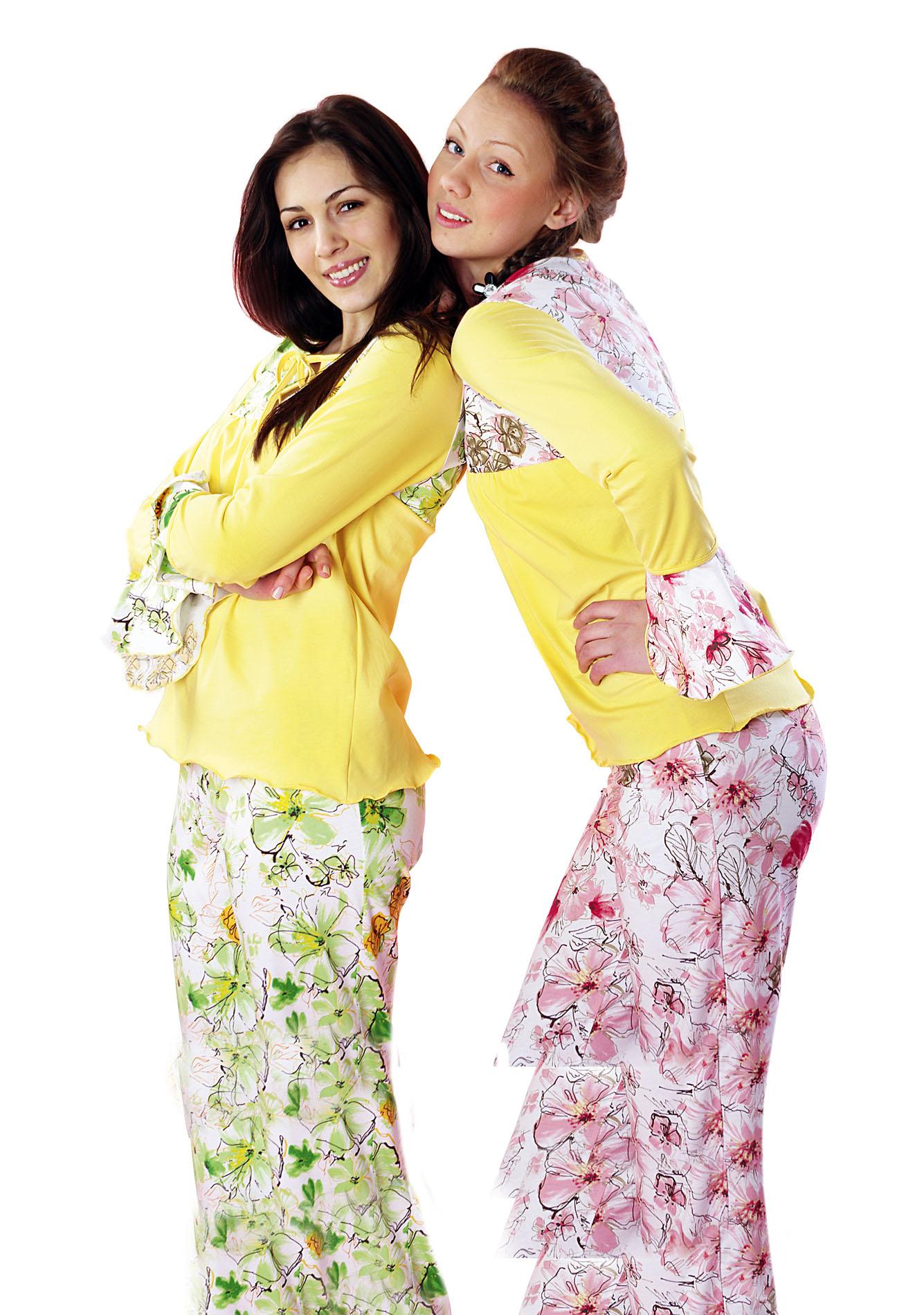 Пижама женская Радость (Зеленый)Коллекция ОСЕНЬ-ЗИМА<br><br><br>Размер: 44