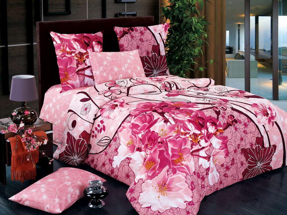 Вдохновение - комплект постельного белья из сатина с 4 наволочками<br><br>Размер: 1,5 спальный, 4 нав.
