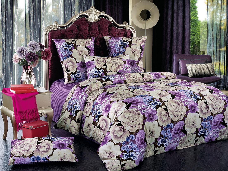 Версаль - комплект постельного белья из сатина с 4 наволочками<br><br>Размер: 1,5 спальный, 4 нав.