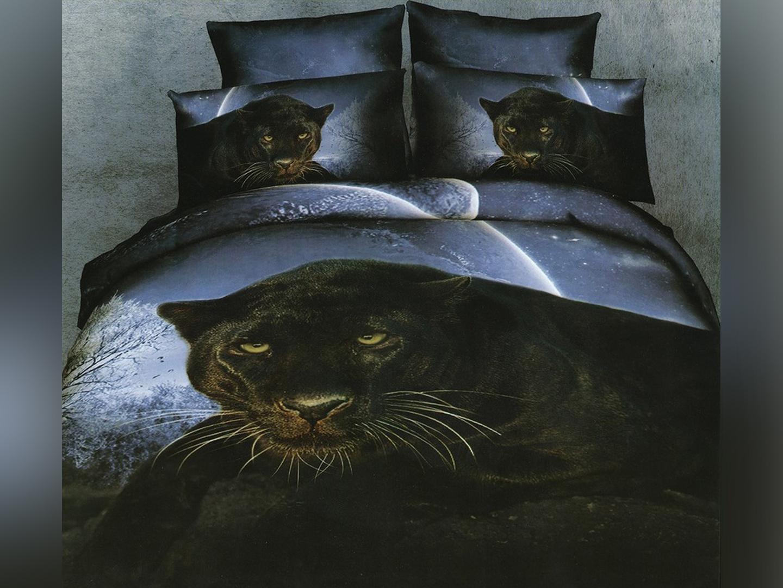 Багира - комплект постельного белья из сатина с 4 наволочками<br><br>Размер: 1,5-спальный, 4 нав.