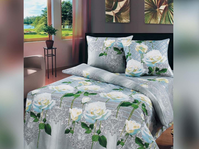 Комплект постельного белья Белые розыБязь<br><br><br>Размер: 2-cпальный Евро Наволочки (2 шт.) - 70х70)