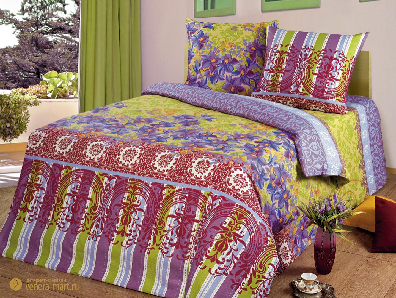 Комплект постельного белья Вернисаж<br><br>Размер: 2-спальный Европростыней