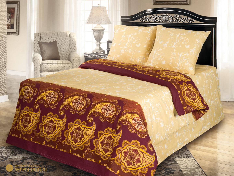 Восточные узоры - комплект постельного белья из сатина с 2 наволочками<br><br>Размер: Семейный, нав.50*70