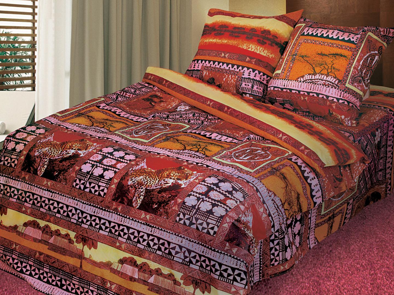 Дикий рай - комплект постельного белья из поплинаПоплин<br><br><br>Размер: Семейный, нав. 70х70