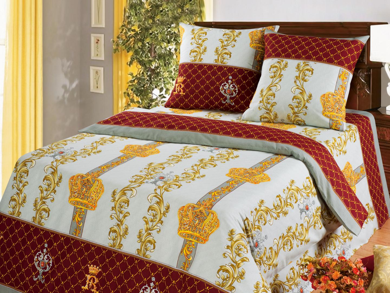 Королевская постель - комплект постельного белья из бязи<br><br>Размер: Евростандарт (2 нав. 70х70)