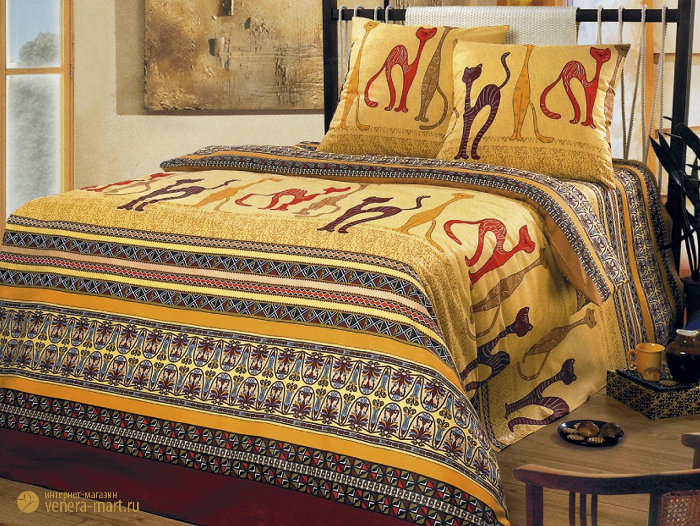 Комплект постельного белья КошкиБязь<br><br><br>Размер: 1,5-спальный (2 наволочки 70х70)