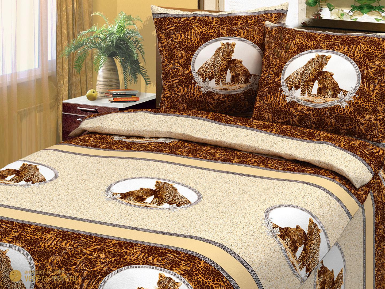 Комплект постельного белья Леопарды<br><br>Размер: Евростандарт (Наволочки (2 шт.) - 70х70)