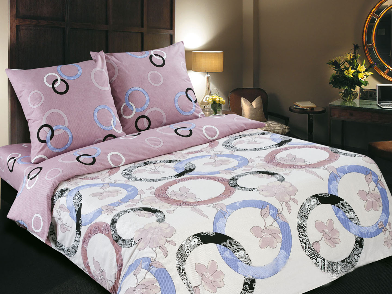 Комплект постельного белья МелодияПоплин<br><br><br>Размер: евростандарт