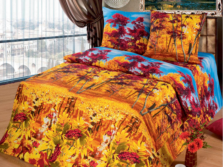 Комплект постельного белья Осень<br><br>Размер: евромакси (нав 70х70)