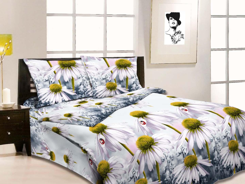 Комплект постельного белья Ромашки<br><br>Размер: Семейный Наволочки (2 шт.) - 70х70