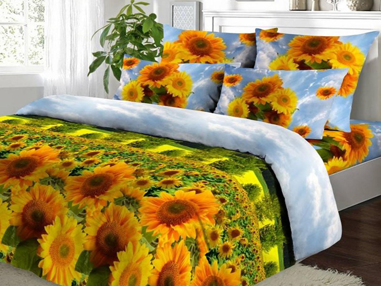 Солнечная долина - комплект постельного белья из поплинаПоплин<br><br><br>Размер: Семейный, нав. 50х70