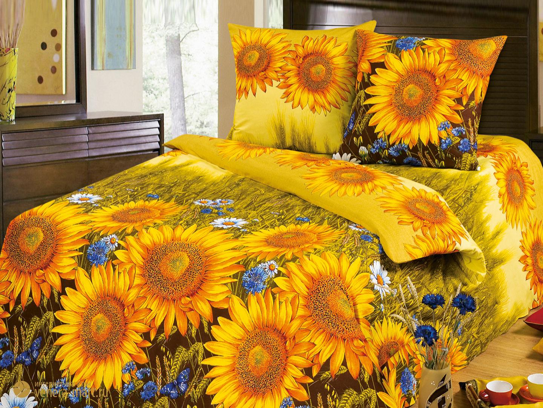 Комплект постельного белья Солнышко<br><br>Размер: семейный (нав 70х70)