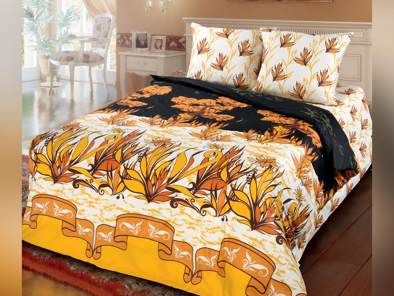 Тайны Каира - комплект постельного белья из сатина с 2 наволочками<br><br>Размер: 2 спальный с европростыней, нав.70*70