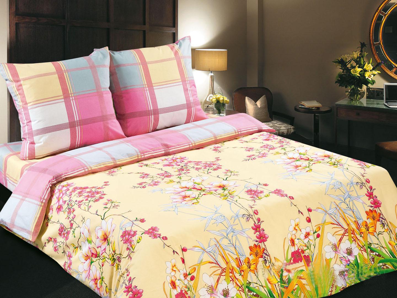 Утренний сад - комплект постельного белья из поплинаПоплин<br><br><br>Размер: евростандарт