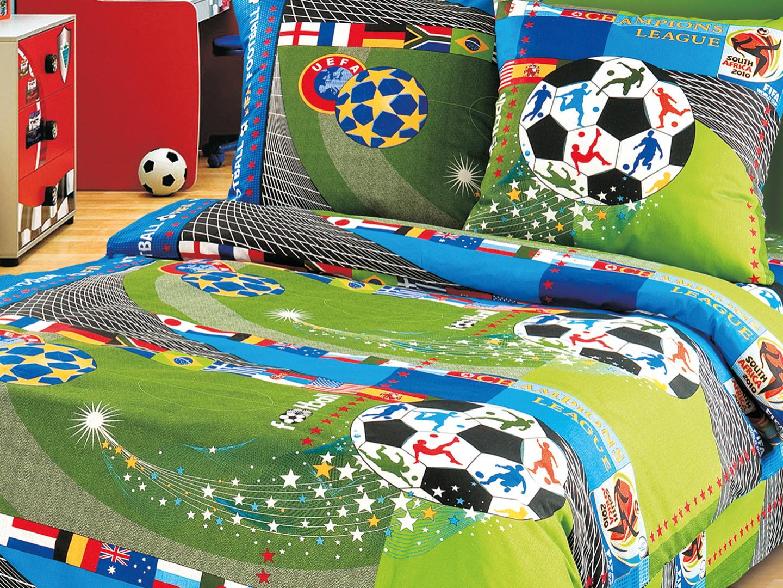 Комплект детского постельного белья Чемпионат<br><br>Размер: Детский 112х147 (1 нав.40х60)