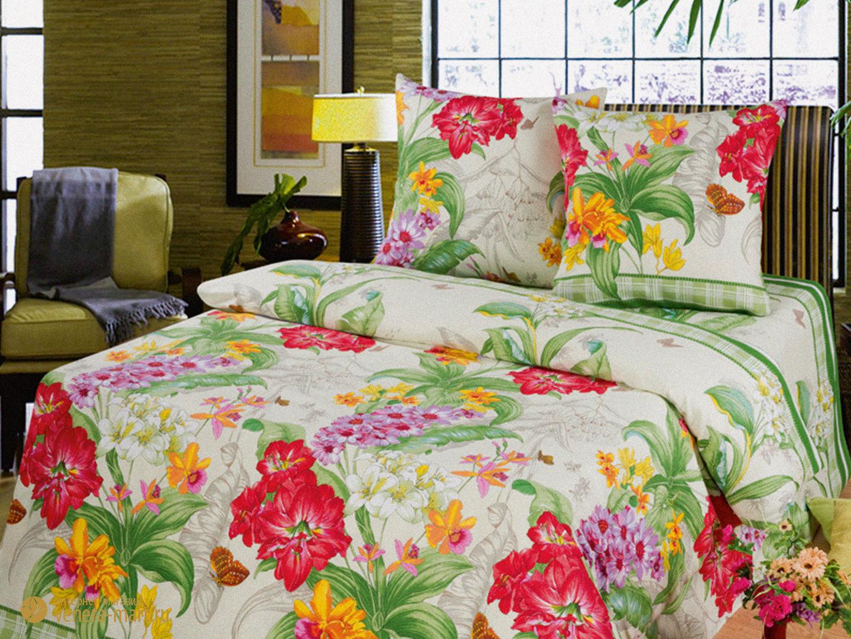 Экзотика - комплект постельного белья из бязиБязь<br><br><br>Размер: 1,5-спальный (2 наволочки 70х70)