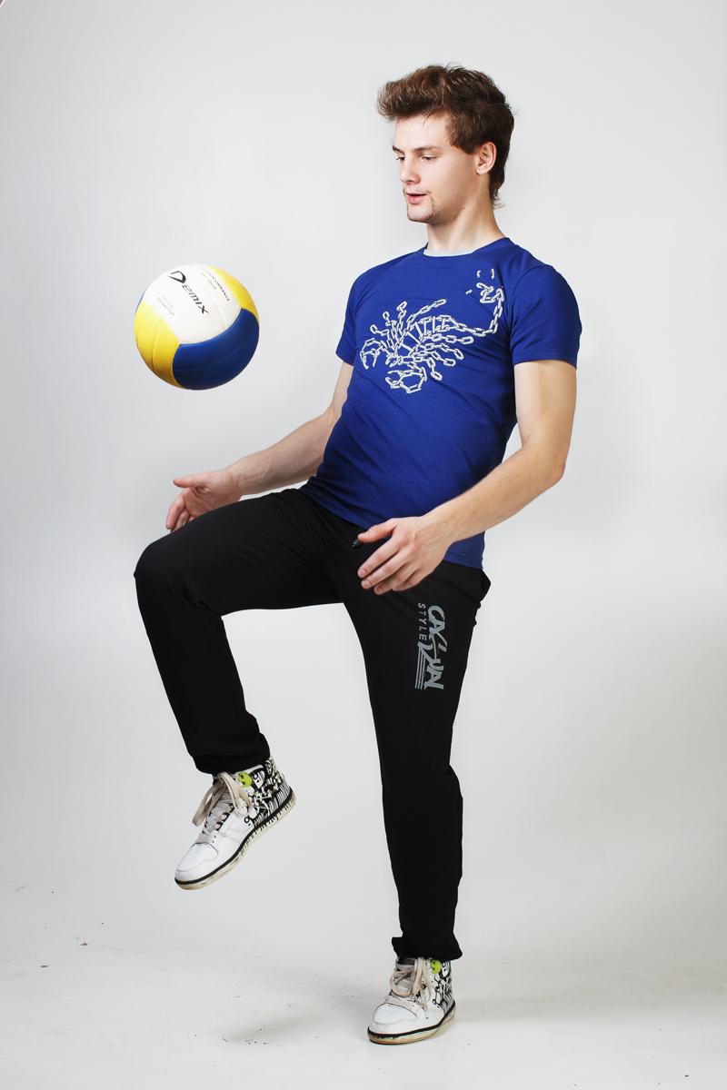 Футболка мужская Скорпион (синяя)<br><br>Размер: 46