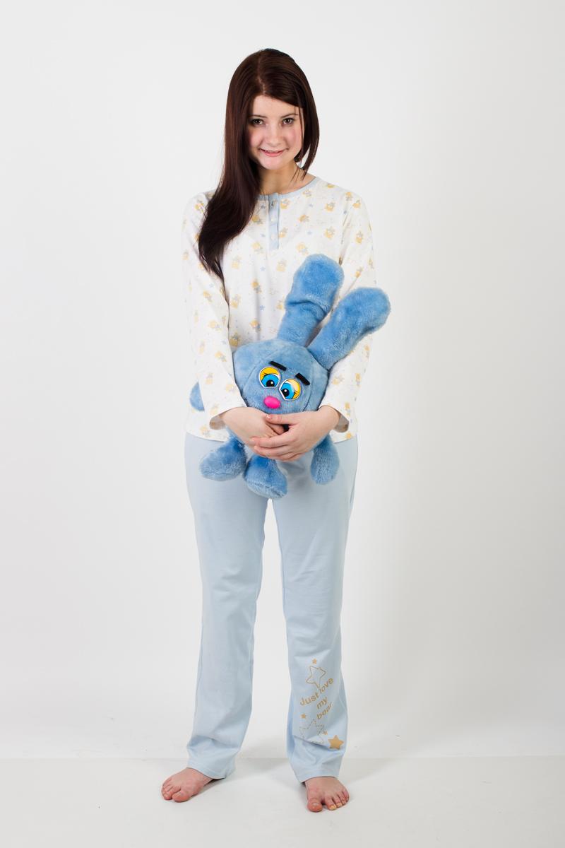 Пижама женская Мишки (голубой)Пижамы<br><br><br>Размер: 52