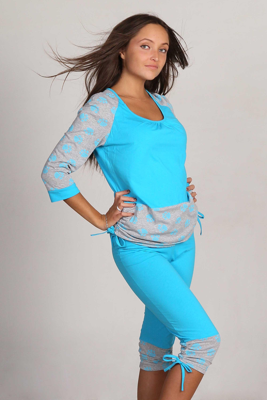 Пижама женская Бантик-лапки кофта + бриджиКоллекция ОСЕНЬ-ЗИМА<br><br><br>Размер: 42