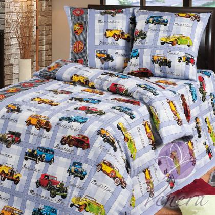 Комплект детского постельного белья РетроДетское постельное белье<br><br><br>Размер: 1,5-спальный (Наволочки (2 шт.) - 70х70)