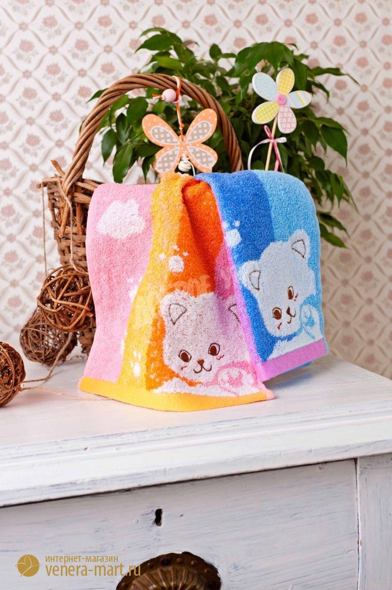 Полотенце Веселые котятаДетские полотенца<br><br><br>Размер: 25х50