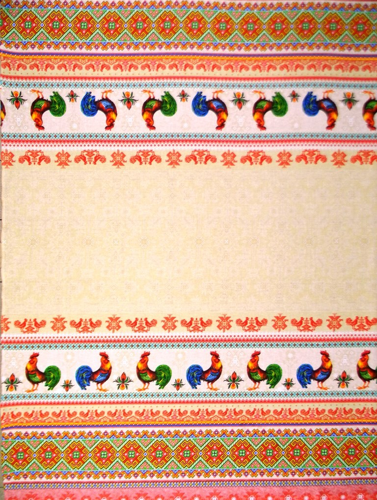 Скатерть из ткани двунитка ПетушкиСкатерти и салфетки<br><br><br>Размер: 180х150