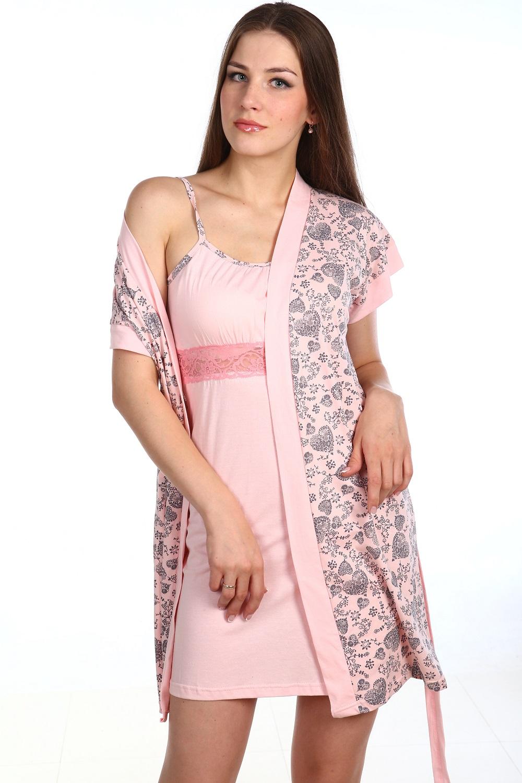 Пеньюар женский Лурдес сорочка и халатПеньюары<br><br><br>Размер: 52