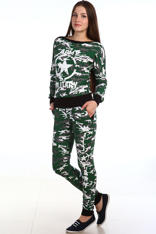 Костюм женский Милитари толстовка и брюкиКостюмы<br><br><br>Размер: 46