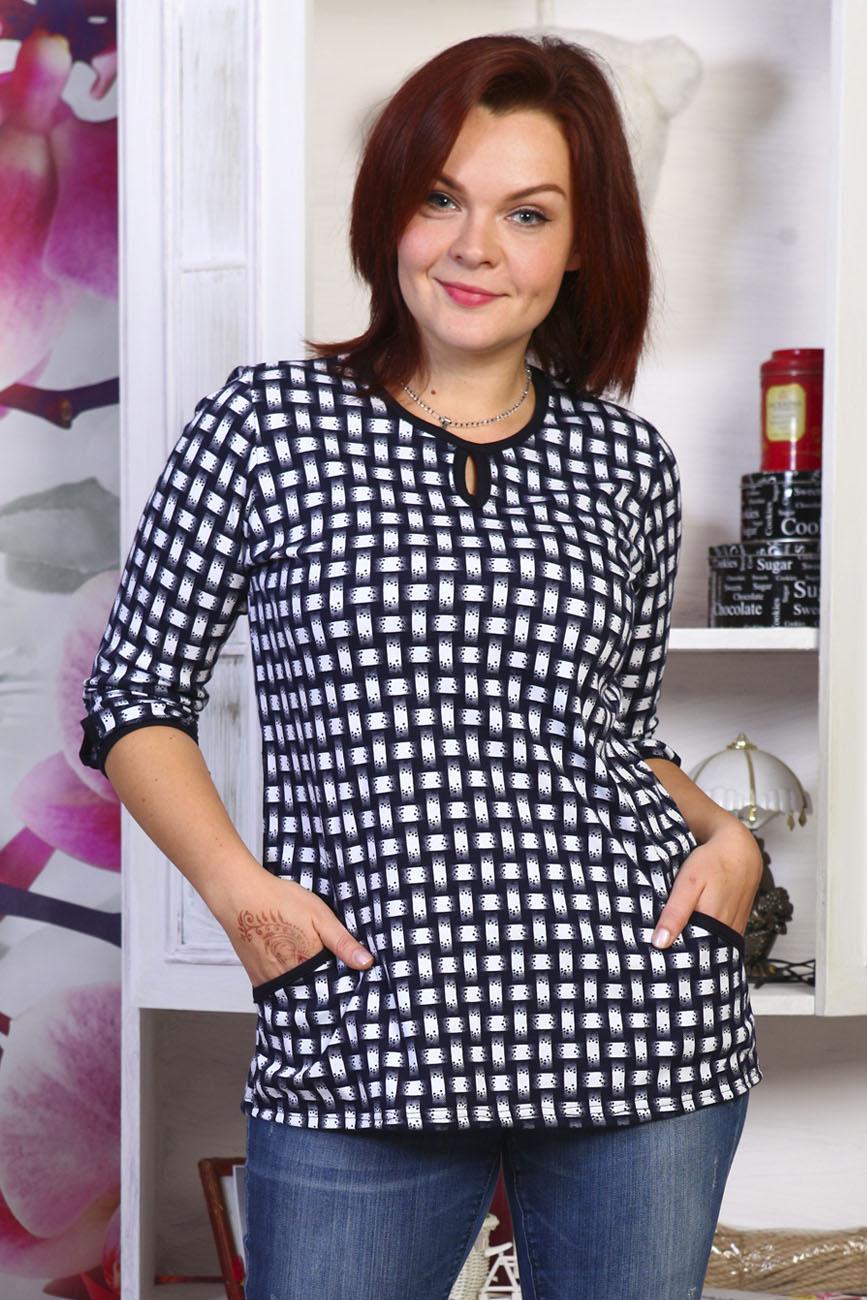 Блуза женская РешеткаБлузы<br><br><br>Размер: 48