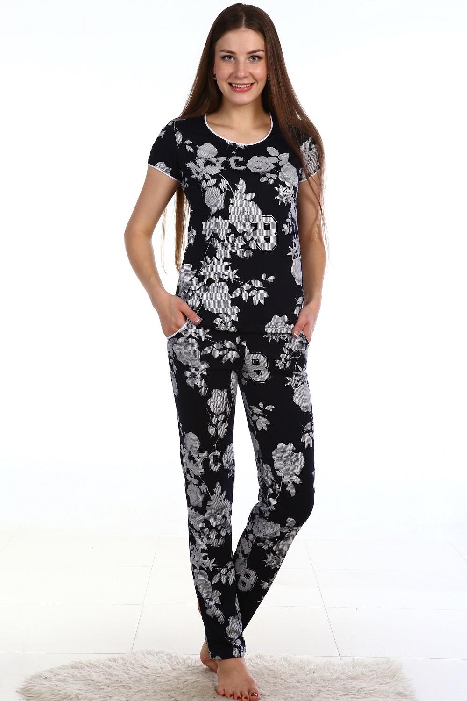 Костюм женский Акцент футболка и брюкиКостюмы<br><br><br>Размер: 54