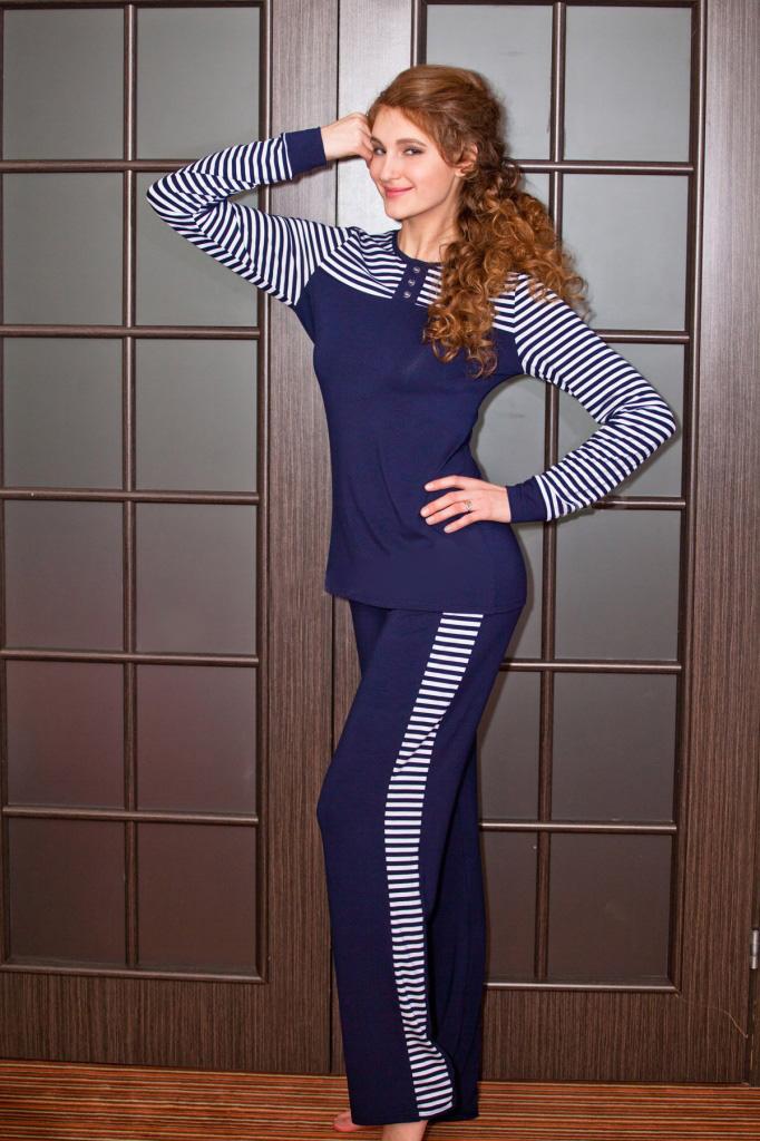 Костюм женский Марьянка блуза и брюкиКостюмы<br><br><br>Размер: 48