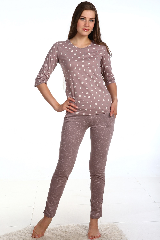 Костюм женский Нонна блуза и брюкиКостюмы<br><br><br>Размер: Брюки со звездами