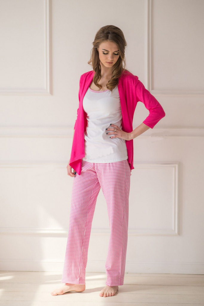 Комплект тройка Пани кардиган, майка и брюкиДомашняя одежда<br><br><br>Размер: 42