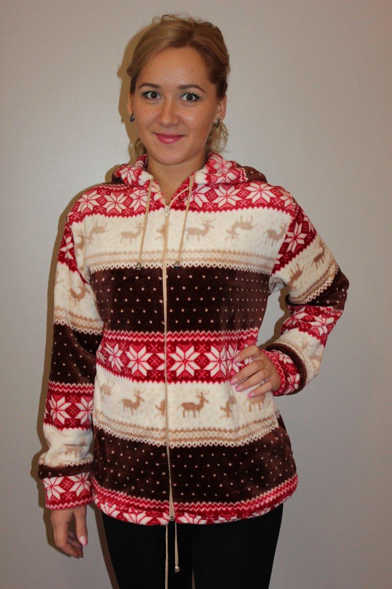 Куртка женская Брусничная поляна  с капюшономКофты, свитера, толстовки<br><br><br>Размер: 56
