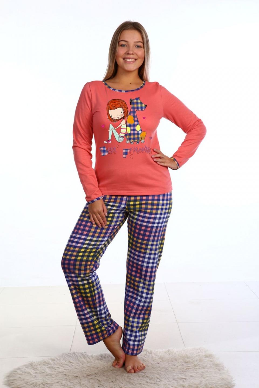 Пижама женская Best friends блуза и брюкиДомашняя одежда<br><br><br>Размер: 46