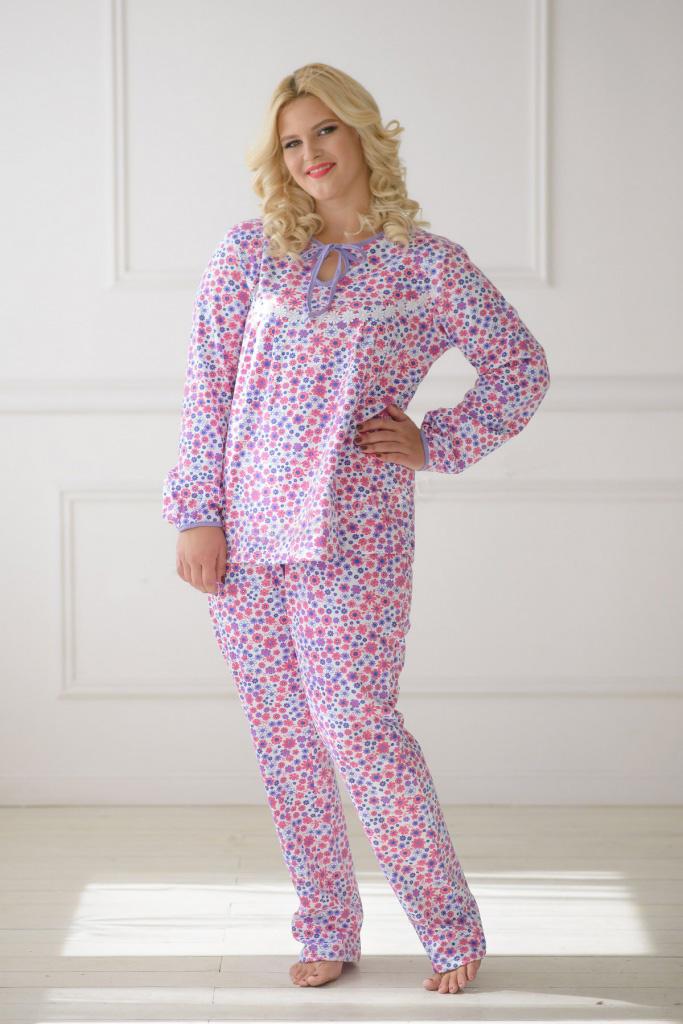 Пижама женская Рассвет блуза и брюкиПижамы<br><br><br>Размер: 60